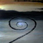 Spiral-Jetty-II-oil-on-vellum-over-mirror-24x24--2010